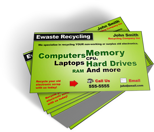Stunning ewaste business cards coming soon ewaste business card package template 5 colourmoves