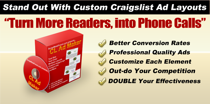 Craigslist Ad Maker - Scrap Metal Software For Scrappers Review