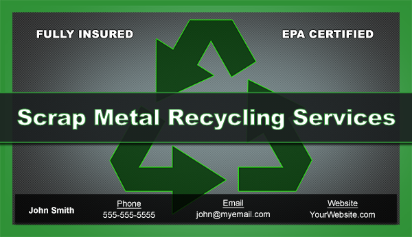 Scrap metal business cards free template heres the card design reheart Gallery