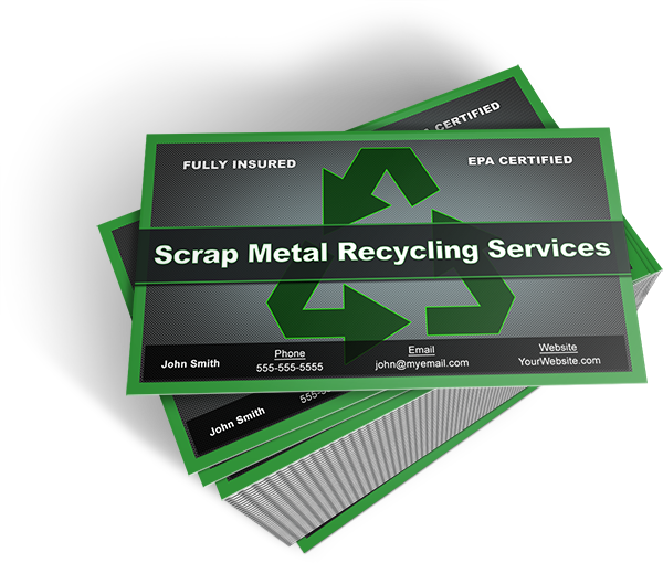 Scrap metal business cards free template heres the card design colourmoves